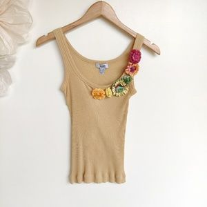 Moschino Cheap And Chic Tank Paper Flowers